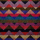 Leather Colorful Chevron Stripes Pattern #3 by Nhan Ngo