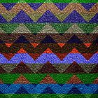Leather Colorful Chevron Stripes Pattern #4 by Nhan Ngo