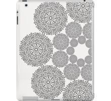 Black lace flower pattern on white background iPad Case/Skin
