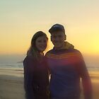 Unknown Couple. Sunrise, Wonga Beach  by Virginia McGowan