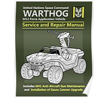 Warthog Service and Repair Manual Poster