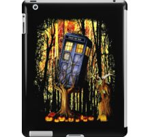 Haunted Blue Phone Box captured By witch iPad Case/Skin