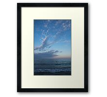 Pale Blues and Feathery Clouds in the Fading Light Framed Print