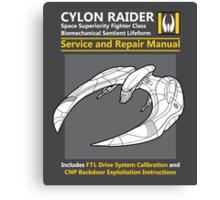 Cylon Raider Service and Repair Manual Canvas Print