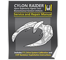 Cylon Raider Service and Repair Manual Poster