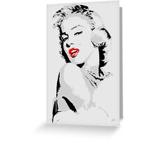 Marilyn Monroe 3 colour Greeting Card