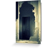 House of Ghosts- Chill Through a Broken Window. Greeting Card