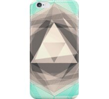 Jewel Lines 2 - Jade & Charcoal iPhone Case/Skin