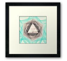 Jewel Lines 2 - Jade & Charcoal Framed Print