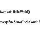 Hello World by BrechtCav
