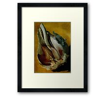 Garlic is for Heroes Framed Print