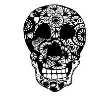 Zentangle Skull by XENJA DESIGN