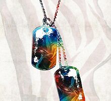 Military Art Dog Tags - Honor - By Sharon Cummings by Sharon Cummings