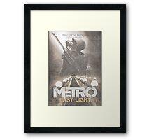 Enter The Metro - Fan Poster Framed Print
