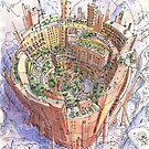 La Città Circolare by Luca Massone  disegni