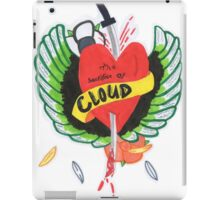 Heart Stabbed - Final Fantasy VII The Sacrifice Of Cloud - Name Banner 'CLOUD' iPad Case/Skin