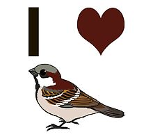 I heart sparrows by Eggtooth