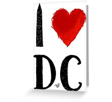 I Heart DC (remix) by Tai's Tees Greeting Card