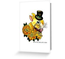 Top Hat Bunny Greeting Card