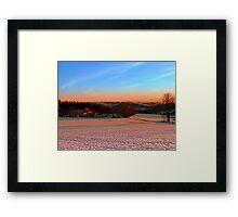 Colorful winter wonderland sundown III | landscape photography Framed Print