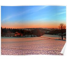 Colorful winter wonderland sundown III | landscape photography Poster