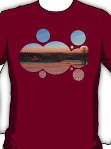 Colorful winter wonderland sundown III   landscape photography T-Shirt