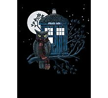 Owl And Tardis Photographic Print