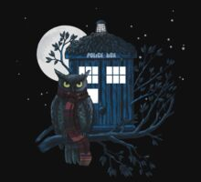 Owl And Tardis T-Shirt