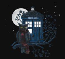 Owl And Tardis by nardesign