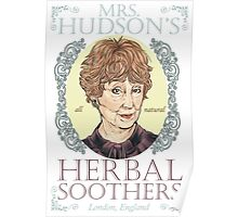 Mrs. Hudson's Herbal Soothers Poster