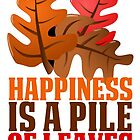 HAPPINESS IS A PILE OF LEAVES by Alan Craker