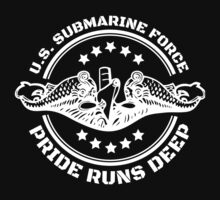 Cool US Submarine Force Pride Runs Deep T-Shirt by Albany Retro