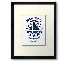 Smash School Veteran Class (Blue) Framed Print