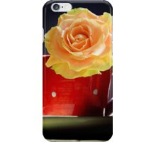 Yellow Rose in a polka dots Teacup iPhone Case/Skin