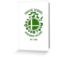 Smash School Newcomer (Green) Greeting Card