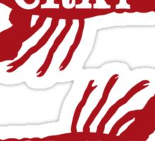 That Cray Cray Crayfish Crustacean Sticker