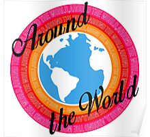 Around The World (Light Background) Poster