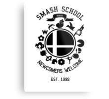 Smash School Newcomer (Black) Metal Print
