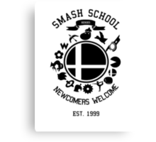 Smash School Newcomer (Black) Canvas Print