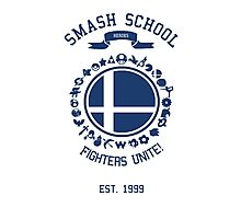 Smash School United (Blue) Photographic Print