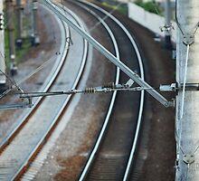 catenary of electrified railway by mrivserg