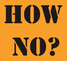 HOW NO? by James Chetwald Mattson
