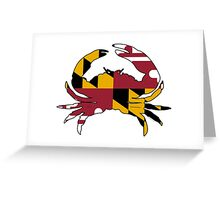 Maryland State Flag Crab  Greeting Card
