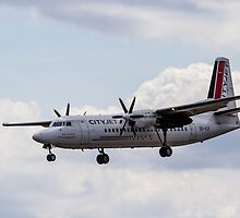 Cityjet Fokker 50 by DavidHornchurch