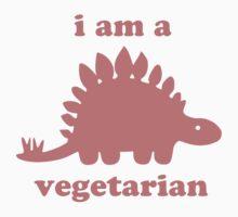 Vegetarian Stegosaurus Dinosaur  by TheShirtYurt