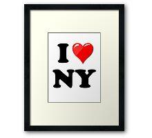 I Love New York State Framed Print