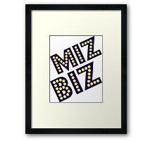 Miz Biz Framed Print