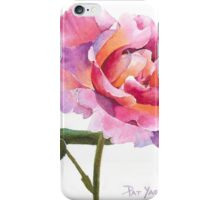 Rose Watercolor iPhone Case/Skin