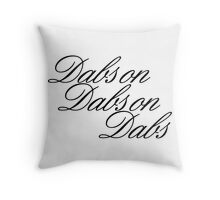 Dabs on Dabs on Dabs Throw Pillow