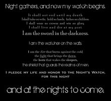 The Night's Watch Vows. by alw1234